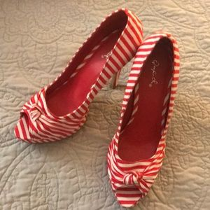Candy Striped Heels